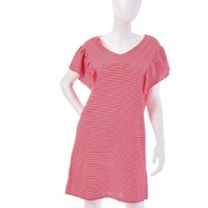 VINEYARD VINES Striped Knit Ruffle Sleeve Dress